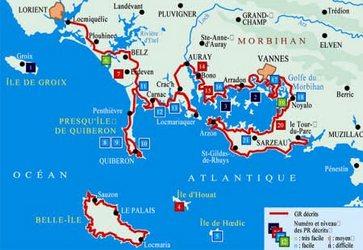Tout les gites d'étapes et hebergement sur le GR34 en Bretagne.