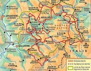 carte GR58 Tour queyras