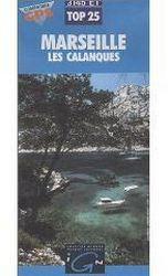 carte  IGN calanque  TOP 25