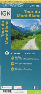 carte ign Tour du Mont-Blanc